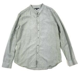 John Varvatos Striped Snap Button LS Shirt Sz L